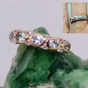"""Ross Simons"" aquamarine ring"